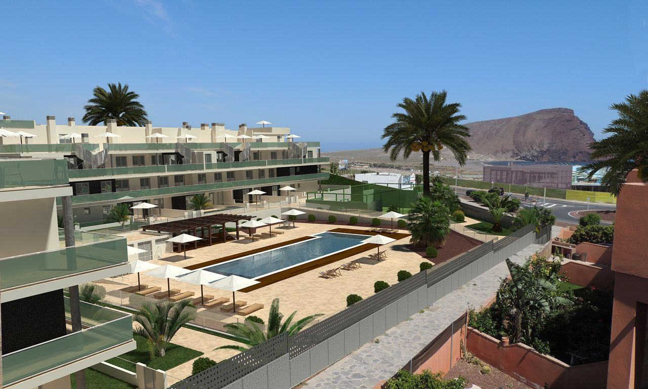 New apartments in Tenerife with views of The Red Mountain