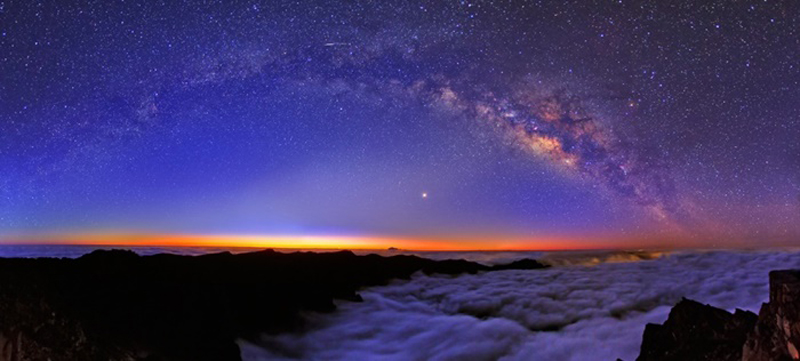 View of the cosmos from Tenerife